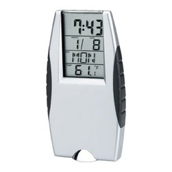 Kito - Grey Alarm Clock with Flashlight and Time/Date/Temp Display - This gorgeous Grey Alarm Clock with Flashlight and Time/Date/Temp Display has the finest details and highest quality you will find anywhere! Grey Alarm Clock with Flashlight and Time/Date/Temp Display is truly remarkable.