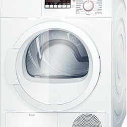 "Bosch - Ascenta WTB86200UC 24"" Ventless Electric Condensation Dryer with 4 cu. ft. Capac - The Sensitive Drying System uses warm mild air to gently dry laundry Lower temperatures gently dry delicate laundry items The Jeans Cycle gently dries to maintain the integrity of your denim Rigid AntiVibration side walls reduce noise by up to 30 The..."