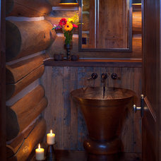 Traditional Powder Room by Karl Neumann Photography