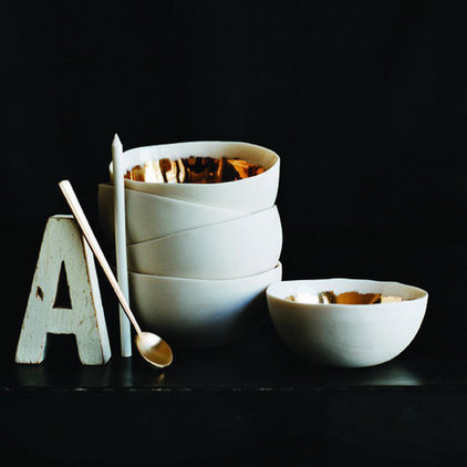 Contemporary Bowls by canvas
