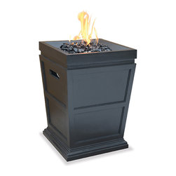 UniFlame Gas Fire Column Terrace Heater - Large - Fire pits have evolved from caves and campsites to become central part of outdoor living.