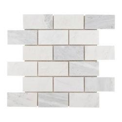 Carrara White Brick Marble Mosaic -