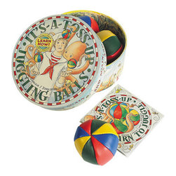 It's a Toss Up - Three hand-stitched professional juggling balls, in proper colors, bright and cheery, inviting you to toss 'em up!