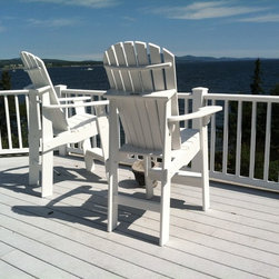 Tall Adirondack chairs - Tall white Adirondack chairs from FairCape Woodworks
