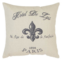 Benzara - Fabric Pillow 16in.H, 16in.W Unique Home Accents - Size: 16 in.  H, 16 in.  W Made of Fabric