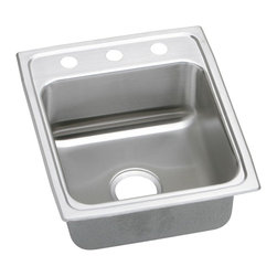 "Elkay - 15"" x 22"" x 5"" Single Bowl Kitchen Sink - Product height: 23.38. Product min width: 9.06. Product depth: 23.4418. Gauge stainless steel 15"" x 22"" x 5"" single bowl top mount kitchen sink. From washing to rinsing, to food prep and cleaning, you spend a lot of time at your sink. That's why we spend our time designing sinks and faucets that make your daily routines easier and give you more time to do the things you love. Gourmet (lustertone) stainless steel single bowl top mount quick-clip sink. Quick-clip mounting system."