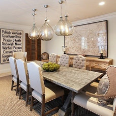Eclectic Dining Room by Blackband Design