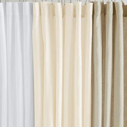 "Eileen Fisher - Eileen Fisher Washed Linen Shower Curtain - Bring the natural beauty of Eileen Fisher washed linen from your bedroom to your bath with this soft, airy shower curtain. Raw-edge hem. Size: 72"" x 72"". By Eileen Fisher Home exclusively by Garnet Hill."