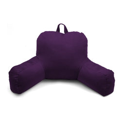 Living Healthy Products - Porter Bedrest - Micro Suede Bed Rest Lounger, Purple - Purple Porter Bed rest provides a functional pillow that allows anyone to lie in bed and read, work or just watch TV comfortably. This bed rest has a handsome high low variegated plush that looks great and wears well.