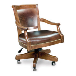 California House - eastgate swivel game chair (leather) - Manufactured in the USA, we are proud to offer our customers this premium game room furniture from a third generation, family-owned company.