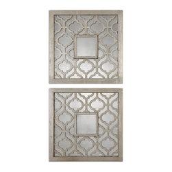 Uttermost - Uttermost 13808 Sorbolo Squares Decorative Mirror Set of 2 - Uttermost 13808 Sorbolo Squares Decorative Mirror Set of 2