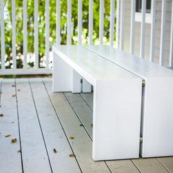 Modern split bench - Modern Split bench by hewn furniture