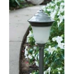 """Hubbell Lighting GN-AB LED Greenville Lightscaper Fixture Antique Bronze Finish - Each fixture is professional grade die cast aluminum construction, built to perform. Path and flood fixtures come complete with stake, 4"""" of fixture cable and """"Smart Connect"""" tool-free connector as well as a flat surface mount for decks or other applications. The 56 watt control center completes the system and features: UL listed non-metallic housing, grounded cord set, photocontrol and easy cable connect. Utilize complete fixture information on each page including: features, lighting layouts and dimensions. The 12-volt LED Lightscaper series is simple to install and a Philips screw driver maybe the only tool you need. Fixtures have LED light sources installed and there is no need to worry about Lamps burning out, correct Lamp replacements or how to re-Lamp."""