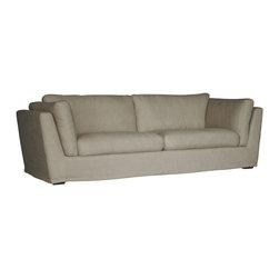 Gingko - David Linen Sofa, Cream Linen - Gracious modern style.  Relaxed styling enhances any room.
