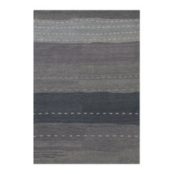 """Couristan - Oasis Seashore Rug 6897/0869 - 3'6"""" x 5'6"""" - These modern day masterpieces inspired by classic Nomadic-Gabbeh designs will work well in both contemporary and transitional room-settings. Because of their rich, sensuous coloration and clean, distinctive appearance they will complement your choice of leather or simple textured furniture pieces. You can go classic or bolder when making your choices."""