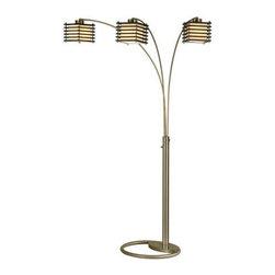 Nova Lighting - Nova Lighting 12121 Kimura 3 Light Arc Floor Lamp - Specifications: