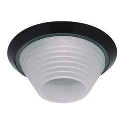"""Contrast Lighting - T2000V Downlight with Stepped, Cone Shaped Glass Trim by Contrast Lighting - The Contrast Lighting T2000V Downlight with Stepped, Cone Shaped Glass Trim offers unimpeded downlight diffused only at the sides by a smooth glass shade in either Natural or Cobalt Blue. For use with a standard 4"""" diameter housing. Contrast Lighting, founded in 1989 and headquartered in Quebec, manufactures top-quality lighting for the North American market, with a special emphasis on halogen recessed lighting fixtures."""