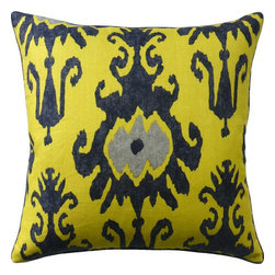 Ryan Studio - Tandonia Pillow - Add this eye vibrant pillow, with its eye catching pattern and playful color to your living space!