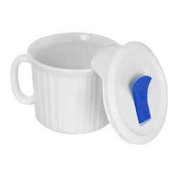 Ekco - Ekco French White Pop-Ins 20-oz Mug with Cover (4 Pack) (1035985) - Ekco 1035985 French White Pop-Ins 20-oz Mug w/ Cover