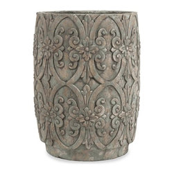 """IMAX - Chapman Large Flower Pot - With beautiful decorative embellishments, the large Chapman flower pot enhances any flowering plant or green foliage. Item Dimensions: (22.25""""h x 16.75""""w x 16.75"""")"""