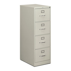 Rulers.com - HON 510 Series Vertical File - 4 Drawer, Legal - This 510 Series 4-drawer vertical file is built on a solid foundation of manufacturing excellence, using advanced machinery and continuous quality testing. The integrated counterweight prevents tipping, and helps you organize all your legal-width file folders.