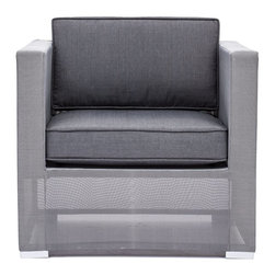 Zuo Modern - Zuo Modern Clear Water Bay Outdoor Armchair X-480307 - Versatile and durable, the Clear Water Outdoor series will transform any outdoor setting. The frame is aluminum with a textile weave outer covering. Cushions are made of an antimicrobial foam with a UV and water resistant fabric cover.