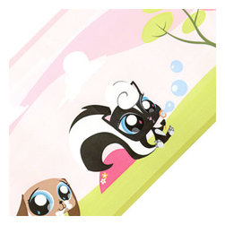 York Wallcoverings - Littlest Pet Shop Pink Park Pre-pasted Wall Border - FEATURES: