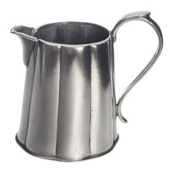 Match Pewter - Britannia Milk Pitcher by Match Pewter - Using methods that predate the Renaissance, Match artisans fashion pewter into functional objects of warmth and beauty. Serve your coffee or tea in style with this charming collection from Match pewter.