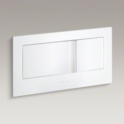 KOHLER - KOHLER Veil(TM) flush actuator plate - For use with the Veil wall-hung toilet, this durable flush actuator plate allows you to choose between 0.8 or 1.6 gallons per flush (gpf).