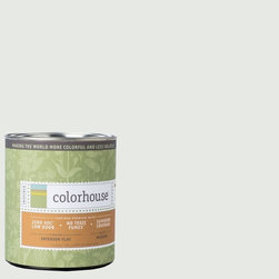 Inspired Flat Interior Paint, Imagine .05, Quart - Colorhouse paints are zero VOC, low-odor, Green Wise Gold certified and have superior coverage and durability. Our artist-crafted colors are designed to be easy backdrops for living. Colorhouse paints are 100% acrylic with no VOCs (volatile organic compounds), no toxic fumes/HAPs-free, no reproductive toxins, and no chemical solvents.