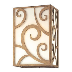 Troy Lighting - Troy Lighting B2751 Pierre 2 Light Hand Worked Wrought Iron 12 Wall Sconce - Hand-Worked Wrought Iron