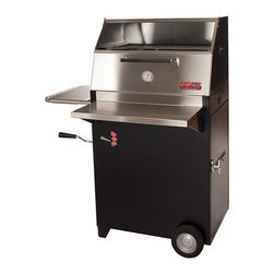 Hasty-Bake - Hasty-Bake Continental 83 Dual Finish Charcoal Grill - A smaller version of the Gourmet, this model is a terrific choice for those who appreciate the additional features of this Hasty-Bake style but have limited space or a smaller family. The Continental has ample cooking space to prepare an entire meal for your family or entertain a small group of friends.  Specifications