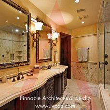 Mediterranean Bathroom by Pinnacle Architectural Studio