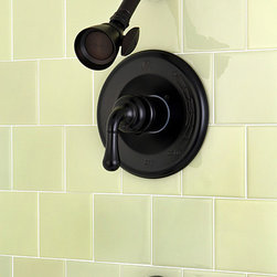 None - Oil Rubbed Bronze Bath Tub and Shower Head Set - Add the perfect finishing touch to your bathroom with this oil-rubbed bronze shower head set. It features the shower head,faucet,and knobs to create a look of elegance in any bathroom. It includes a pressure balance system to prevent variations.