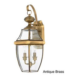 Quoizel - Newbury 2-light 60-watt Outdoor Fixture - When it comes to curb appeal, outdoor lighting plays a large part in creating a special ambiance. The classic design and beveled glass of the Newbury gives the outside of your home a rich elegance.