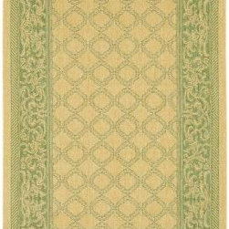"Couristan - Area Rug: Recife Garden Lattice Natural Green 7' 6"" x 10' 9"" - Shop for Flooring at The Home Depot. Distinctively designed to complement the simple yet classic styling of outdoor furniture, uniquely colored to make stone entryways and patio decks warmer and more inviting, Couristan is proud to expand its popular indoor/outdoor area rug collection, Recife. Power-loomed of 100% fiber-enhanced Courtron polypropylene, this all-weather, pet-friendly, mold and mildew resistant area rug collection features a durable structured, flat woven construction, which allows it to be suitable for indoor and outdoor use. The naturally inspired color palette offered in this versatile collection features a series of unique combinations of natural hues that have been selected to complement today's hottest outdoor home furnishings."