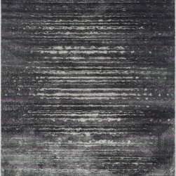 """Loloi Rugs - Loloi Rugs Elton Collection - Pewter / Purple, 9'-2"""" x 12'-2"""" - Designed to look like a modern version of yesterday's classics, the Elton Collection features intentionally distressed pattern that matches well with contemporary to transitional spaces. Elton is power loomed in Egypt of polypropylene and polyester for great durability and easy maintenance. Available in six sizes including a runner and a scatter."""