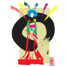 Contemporary Artwork Geisha - Feminine Zen