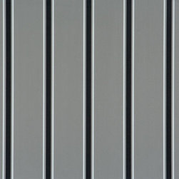 Walls Republic - Extend Grey Wallpaper R1249, Double Roll - Extend is a classic striped wallpaper with a pattern of large, medium, and small scale stripes. In a range of neutral colours this simple stripe can be a good backdrop in a variety of spaces. Use it in your hallways for a classic look.