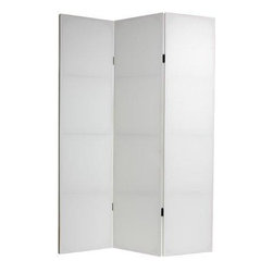 Oriental Furniture - 6 ft. Tall Do It Yourself Canvas Room Divider - This wonderful blank canvas screen is ready for any and all of your most creative ideas!