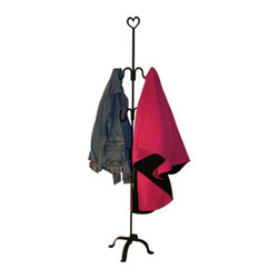 """Renovators Supply - Coat Racks Wrought Iron Black Handcrafted Coat Rack 60"""" H 