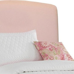 Skyline Furniture - Twin Upholstered Headboard (Twin) - Choose Size: TwinIncludes headboard, metal legs and hardware. Hand made. 100% Cotton upholstery. Adjustable metal legs. Guarantees product from manufacturers defects and does not include fabric. One year limited warranty. Made in U.S.A. Made from wood frame. Twin: 42 in. L x 4 in. W x 52 in. H. Full: 56 in. L x 4 in. W x 52 in. HThis upholstered headboard is a great addition to your child's bedroom. Adding classic style and design. Available in eleven different colors. You are sure to find the perfect look. Coordinating pieces also available.