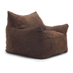 Comfort Research - Comfort Research Imperial Lounger - Chocolate - Kings and queens, your throne has arrived! Introducing the Imperial Lounger. Take a seat on this cozy, plush, conformable chair and experience a level of comfort that, until now, had only been available to royalty. Filled with our super soft, long lasting Fuf foam, it will be your favorite spot in the house. Re-Fuf again and again for custom comfort. Spot clean.