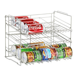Atlantic Inc - Atlantic Inc Canrack In Silver - Atlantic Inc - Kitchen Accessories  - 23235594 - Atlantic Inc. brings you innovative storage solutions for your home. Keep your pantry clutter free with this durable Canrack.Features: