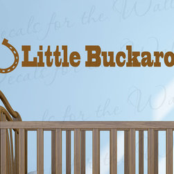 Decals for the Wall - Wall Sticker Decal Quote Vinyl Art Letter Little Buckaroo Cowboy Nursery Boy B09 - This decal says ''Little Buckaroo''
