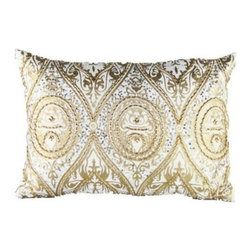 Design Accents Baroque Velvet Pillow - There's certainly nothing Baroque-n about the stylish design of the Design Accents Baroque Velvet Pillow. The top quality velvet cover is hand printed and embellished in a variety of gorgeous colors. This unique design features a polyester/polyfill insert that is sure to keep its shape beautifully.