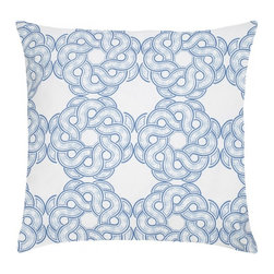 """Maroc Etoile Cotton Pillow, Indigo - Modern and classic - the hallmark of the CocoCozy style.  This 100% cotton decorative pillow is sure to make a statement in any room. Each 20"""" x 20"""" pillow is custom made and manufactured in the United States with an invisible zipper and a knife edge finish.  Dry clean only."""