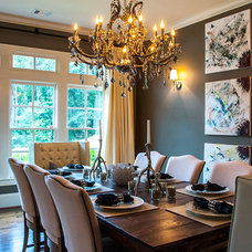 Eclectic Dining Room by 2 Gays & a Design, LLC