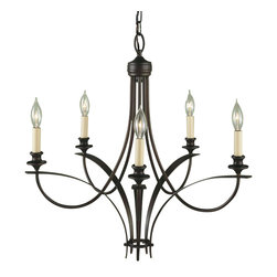 """Murray Feiss - Murray Feiss F1888/5ORB Chandelier - Number of Bulbs: 5. Bulb Base: Candelabra (E12). Bulb Type: Incandescent. Bulb Included: No. Watts Per Bulb: 60. Wattage: 300. Voltage: 120. Height: 25.25"""". Diameter: 25.5"""". Chain Length: 60"""". Wire Length: 180"""". Energy Star: No. UL Listed: Yes. UL Rating: Dry Location."""