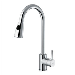 Vigo - VIGO VG02005CH Pull-Out Spray Kitchen Faucet - Add flair to your kitchen with this stylish yet durable VIGO faucet